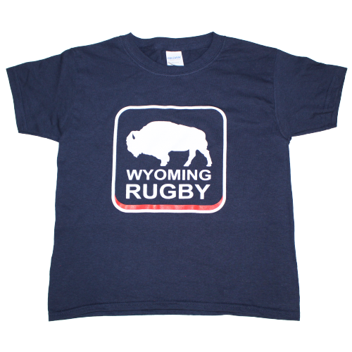 Wyoming Rugby Youth Navy Tee